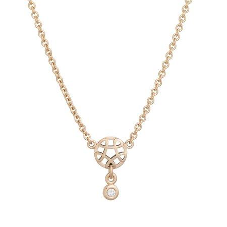 Bron BRON Collier Toujour Ajour 18k Roségoud  met diamant 0.04ct 8CR4419BR