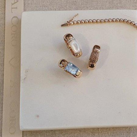 AL CORO AL CORO La Piazza Ring 18k Roségoud met parelmoer en diamant NR479MOR
