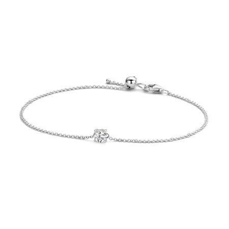 Blush armband 14krt witgoud met zirkonia chatonzetting 2166WZI