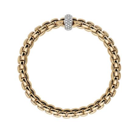 Fope FOPE Armband Flex-It EKA 18k Geelgoud met 0.37ct diamant 721B PAVE
