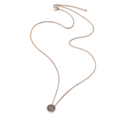 Burato BURATO Collier 18k Roségoud met 0.18ct bruin diamant 42cm BO025