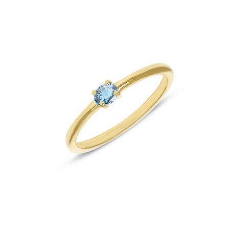 MissSpring Miss Spring Ring MSR570 geelgoud met ovale topaas