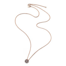 Burato BURATO Collier 18k Roségoud met 0.09ct bruin diamant 42cm BO158