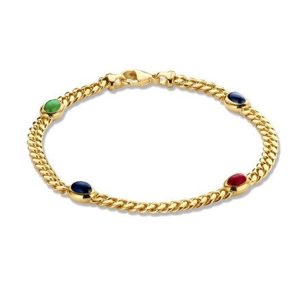 HuisCollectie HuisCollectie Armband 14k Geelgoud met edelstenen 608673