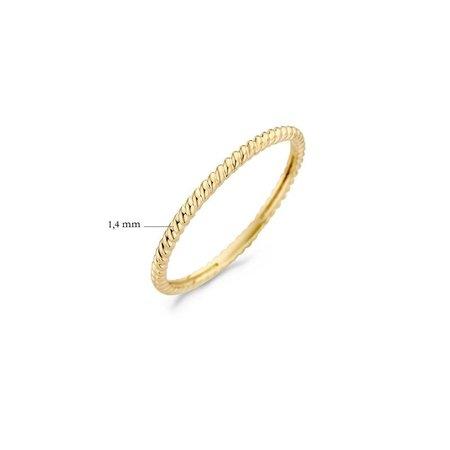 Blush Blush ring 14k geelgoud gedraaide ring  breedte 1,4  mm 1196YGO/52