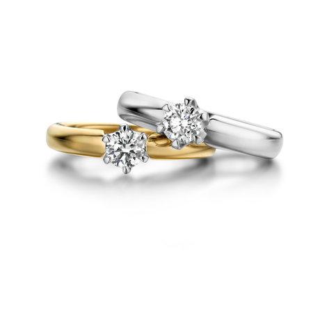 HuisCollectie HuisCollectie Ring 18k Witgoud met 0.20ct G/VSI diamant 605422