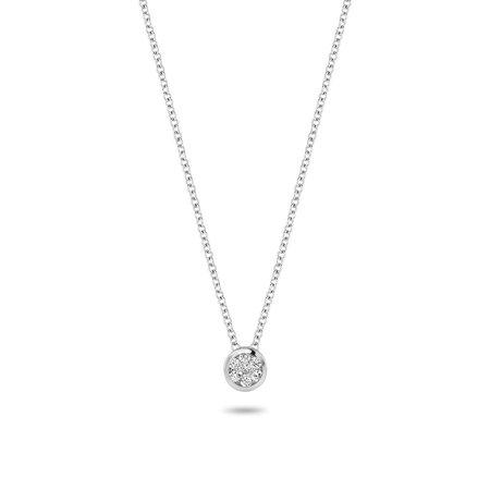 Blush Blush collier 14krt witgoud met diamant 3601WDI