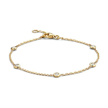 Mrs.Janssen Mrs.Janssen armband 14k Geelgoud met diamant 0.25ct HSI 608888