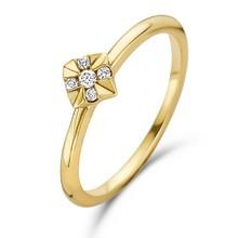 Mrs.Janssen Mrs.Janssen Ring 14k Geelgoud 0.05ct diamant 608891