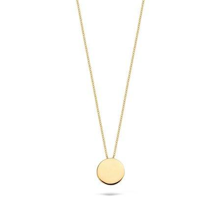 Blush Blush collier 14krt geelgoud met ronde hanger 3088YGO