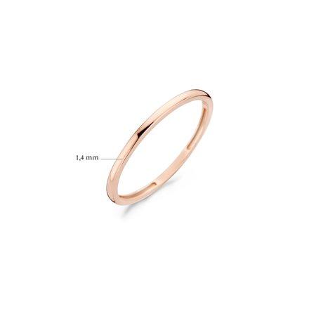 Blush Blush Ring 14k Roségoud halfrond 1.4mm 1197RGO