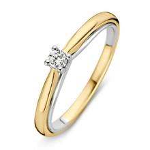 HuisCollectie Huiscollectie Ring geelgoud 14k met diamant 0,10ct. 608892
