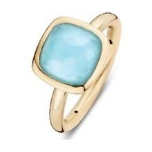 Tirisi Moda TIRISI Ring 18k Geelgoud met blauw topaas doublet TR9707TQ