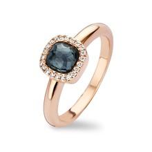 Tirisi Moda Tirisi Milano Mini Sweeties Ring 18k Roségoud met Hematite en diamant  TR9624HMP