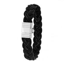 Albanu Albanu Armband zwart Leer staal 11mm 30.05.21 - 608818