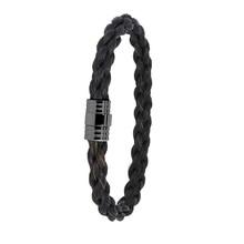 Albanu Albanu Armband zwart paardenhaar staal 30.04.155 - 608820