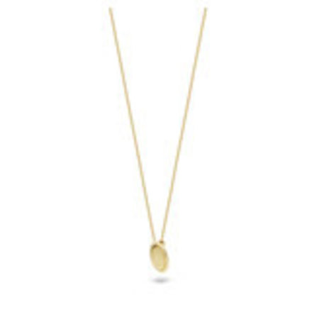 Blush Blush collier 14krt geelgoud met ovalen hanger 3123YGO