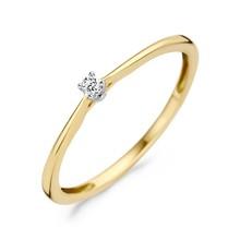 Blush Ring 14k Geel en Wit Goud met Diamant 1620BDI