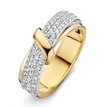 HuisCollectie HuisCollectie Ring bicolor goud 14k diamant 0.49crt H/Si 609110