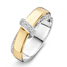 HuisCollectie HuisCollectie Ring bicolor goud 14k diamant 0.23crt H/Si 609112