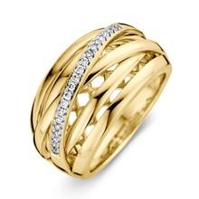HuisCollectie HuisCollectie Ring Geelgoud 14k diamant 0.12crt H/Si 609113