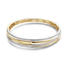 HuisCollectie HuisCollectie Slavenband 14k Geelgoud met 1.03ct H/Si diamant 609114