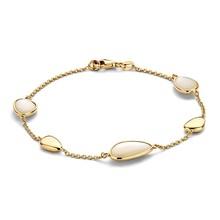 Mrs.Janssen Mrs.Janssen armband 14k Geelgoud met parelmoer 609119