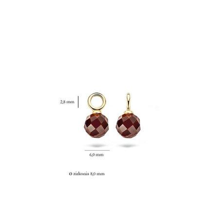Blush Blush oorbedels 14k geelgoud met smokey quartz 9046YZK