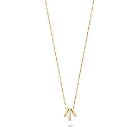 Blush Blush collier 14krt geelgoud met hanger met zirkonia 3122YZI
