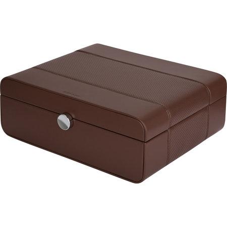 Benson Benson  Black Series bruine horlogebox voor 8 horloges