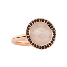 Bron BRON Ring Sushi  18k Roségoud met maansteen en zwarte korund 8RR4864MWBZK