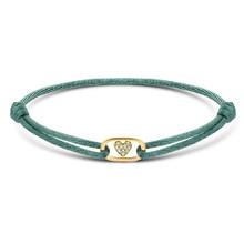 Minitials Minitials One Benji Diamond  Hart Geelgoud Satin Bracelet