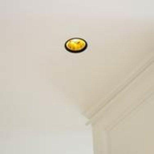 Spot encastrable doré avec noir rond diamètre 100mm
