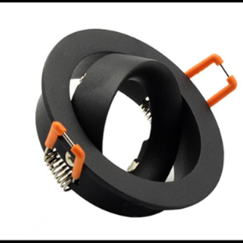Inbouwspot 75mm GU10 zwart design diameter 85mm