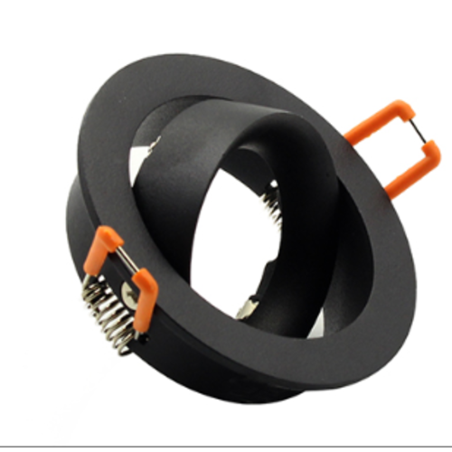 Design inbouwspot 110mm diameter zwart GU10