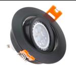 Spot encastrable diamètre 90 mm GU10 noir