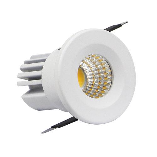 Petit spot LED blanc ou noir 3W scie 30mm