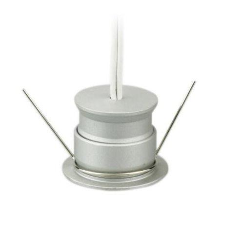 Mini spot LED encastrable 4W scie 30mm blanc, noir ou gris