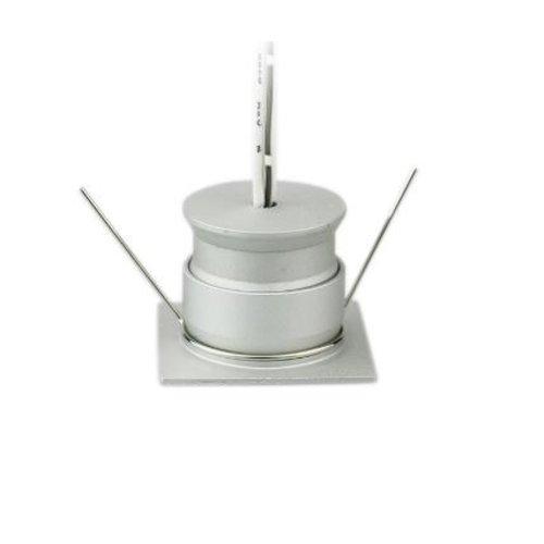 Mini inbouwspot LED 4W 30mm zaagmaat vierkant wit of grijs