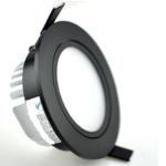 Spot 70mm encastrable noir 5W 45mm haut dimmable