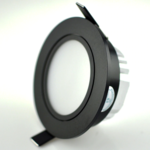 Lage inbouwspot LED 7W zwart 70mm zaagmaat dimbaar