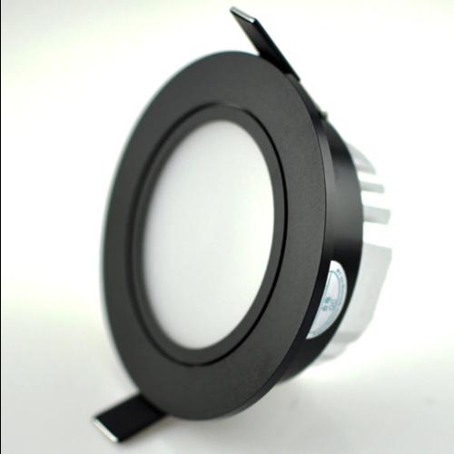 Lage inbouwspot LED 7W zwart 75mm zaagmaat dimbaar