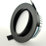 Inbouwspot diameter 110 mm zwart LED 12W zaagmaat 95mm dimbaar