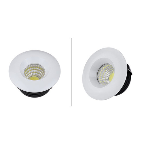 Spot encastrable diamètre 50 mm 5W LED blanc, noir dimmable faible hauteur