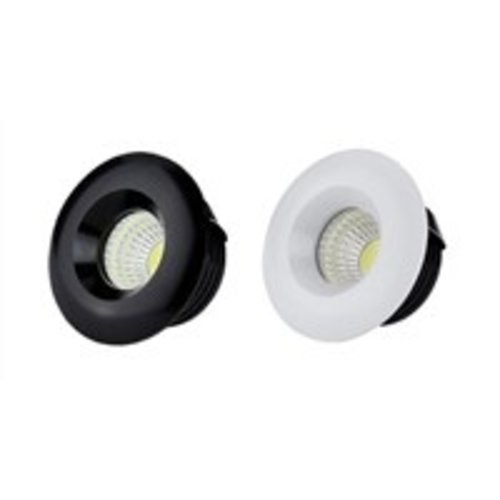 Inbouwspot 35mm zaagmaat 5W LED wit of zwart dimbaar