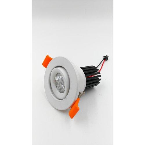 Inbouwspot boorgat 55mm 5W of 7W LED wit richtbaar dimbaar
