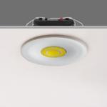 Spot LED doré ou blanc mini 3W faible hauteur