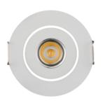 Platte inbouwspot 3W LED wit of grijs 20 mm hoog