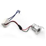 Mini spot LED encastrable extérieur IP44 3W gris perçage 27 mm