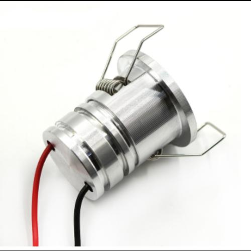 LED spot 30mm inbouw IP44 badkamer 3W grijs